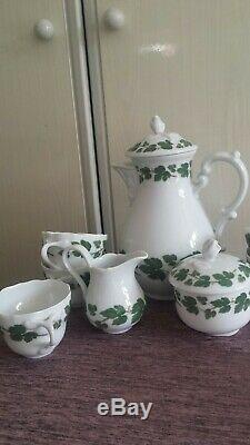 Superbe Service À Café Vintage En Porcelaine Hutschenreuther D'allemagne Très Rare