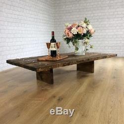 Table De Café Industrielle Vintage Rustic Reclaimed Plank Ensemble De Banquet Supérieur Living