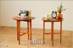 Table De Chevet Vintage Côté Table De Chevet Pliante De 2 (plan G Mcintosh Era) En Teck