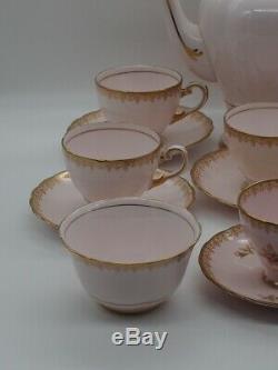 Toscane Vintage Fine Porcelaine Anglaise Café Ensemble De 16 Pièces