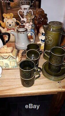 Vaste Lot De Café Et De Thé Vintage Pots / Sets Vases Tirelires, Etc.