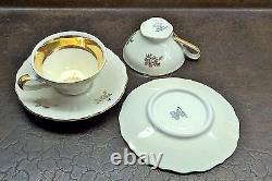 Vieux Thé De Porcelaine Bavarois Pour Deux Sets, Y Compris Le Sucre Bowl & Creamer