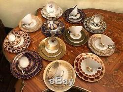 Vintage 12 Tasses 12 Soucoupe 12 Plate Gâteau Winterling Bavière Porcelaine Set Café