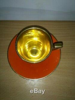 Vintage 15 Piece Carlton Ware Années 1920 Orange Glacé Set Café