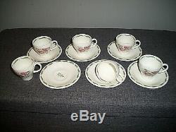 Vintage 1940 Susie Cooper Tiger Lily Coffee Set Six (red & Complete Vert)