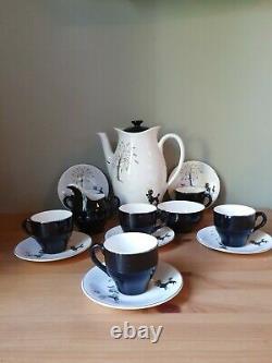Vintage 1950's British Anchor Poodles Design Ensemble De Café Complet