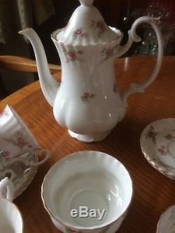 Vintage 1960 De Richmond Bone China Coffee Set Time Rose Afternoon Tea