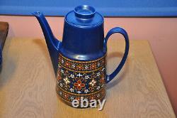 Vintage 1960 Winterling Schwarzenbach Bavière Bleu Café Set Allemagne De L'ouest