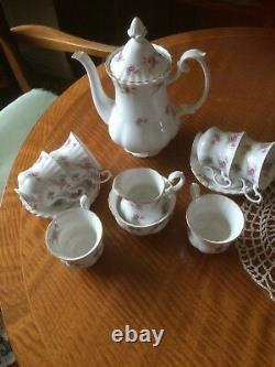 Vintage 1960's Richmond Bone China Coffee Set Rose Time Afternoon Tea