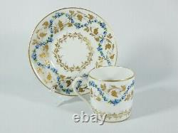 Vintage 1966 Française Le Tallec Set De 6 Demitasse Coffee Cup Saucer Duos France