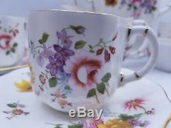 Vintage 6 Place Royal Crown Derby'posies De Café Set Mint Condition