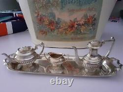 Vintage 925 Hallmarked Miniature Coffee Set 4 Piece Doll Bear Prop