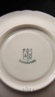 Vintage Ab Lidköping Porslinsfabrik (alp) Ensemble Thé / Café 19 Pièces