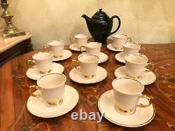 Vintage Années 1960. 10 Tasses 10 Soucoupes Arabia Finland Porcelain Coffee Tea Set