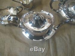 Vintage Antique Asprey London Sterling Silver Tea Set