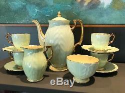 Vintage Aynsley Demitasse Crocus Coffee Set Vers. 1934