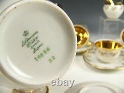 Vintage Bavaria Liane Gold Demitasse Tea Cafe Set Service Pour 6 Bavarois