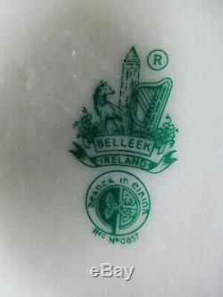 Vintage Belleek Set Café Motif Jaune, Irlandais, 6e Génération Green Mark, 1965