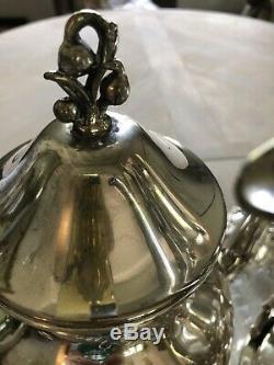 Vintage Birmingham Argent Co. Argent Sur Fil De Cuivre À Thé Et À Café