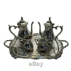Vintage Comtesse International Silver Company Antique Tea Set Café Platerie