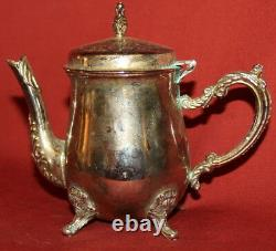 Vintage Décoratif Silverplated Footed Small Tea & Coffee Set