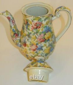 Vintage Empire Porcelain Lilac Time Chintz 13 Piece Coffee Set 1930's Vgc
