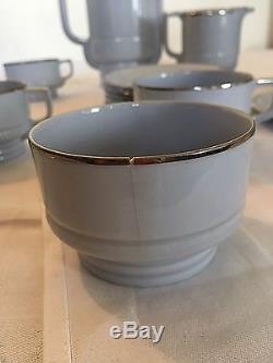Vintage Epiag Tchécoslovaquie Art Déco Porcelaine Set Café