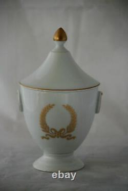 Vintage Français Café 3 Pièces Ensemble Porcelaine De Paris Napoléon III Empire