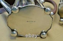 Vintage George 111, Circa 1701 Sterling Silver 5 Piece Thé Et Café Set 86 Toz