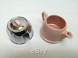 Vintage Heatmaster Kosy Tea & Coffee Set Rare Rose Glaze Superbe Non Utilisée Au Royaume-uni Made