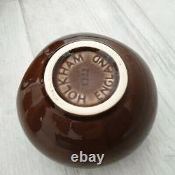 Vintage Holkham Pottery Coffee Set Owl Eyes Brown 6 Tasses 1 Jugs Sugar Pot Tea