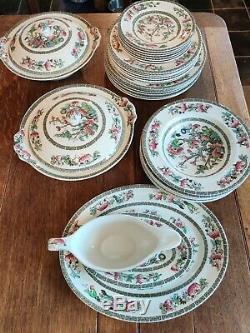 Vintage Johnson Brothers Indien Tree Diner + Café Service 6 Réglages 44pc