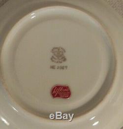 Vintage Lefton Chine, Ensemble De Café Heritage Roses Roses Vertes Peint À La Main De 19 Pièces