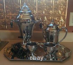 Vintage Lehman Bros Kromaster Coffee Urn Percolator 5 Pièces Set Art Deco