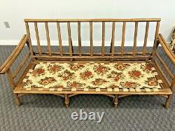 Vintage MID Century Modern Sofa Set Chaise Basse En Bambou Bentwood Boho Chic