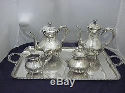 Vintage Magnificent 4 Pc Set De Thé Et Café Silver 800