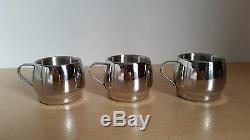 Vintage Mann Unic 18/10 En Acier Inoxydable À Double Paroi Expresso 6 Tasses De Café
