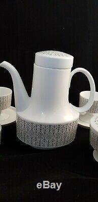 Vintage Milieu Du Siècle Rosenthal 11 Collectables Piece Thé En Porcelaine / Set Café