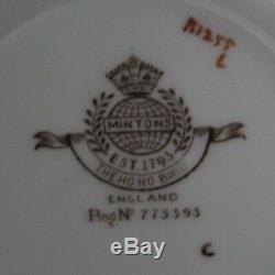 Vintage Minton B1255 Le Café Ho Ho Bird Set Pour 4
