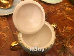 Vintage Norvégienne En Céramique En Porcelaine Egersund 6 Tasses 6 Soucoupes Ensemble Complet Café
