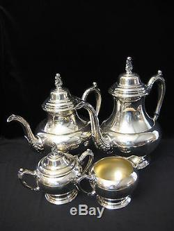 Vintage Oneida Silversmiths Silverplate Cafetière, Théière, Ceamer, Ensembles À Sucre
