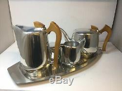 Vintage Picquot Ware Tea Set Café Sur Le Plateau 1950/60, Super Condition