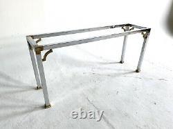 Vintage Pierre Cardin MID Century Moderne En Laiton Chromé Canapé De Table D'extrémité