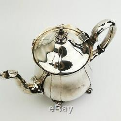 Vintage Pilgrim Silverplate 4 Piece Tea & Coffee Set & Décoration Plateau Métal