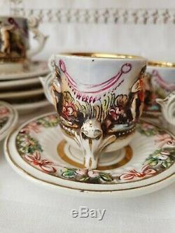 Vintage, R. Capodimonte E & B Café Circa 1920-30`s Rare
