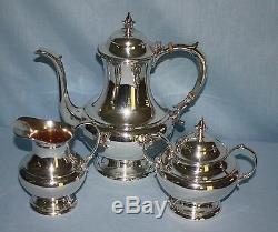 Vintage Reed & Barton Sterling Silver 3 Pièces. Ensemble De Thé À Café The Pilgrim