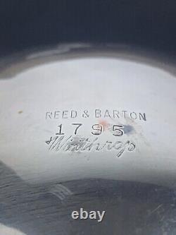 Vintage Reed & Barton Winthrop Assiette De Thé Et De Café En Argent