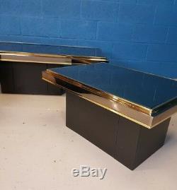 Vintage Retro MID Century Set De Trois Tables Basses / Tables D'appoint En Miroir
