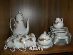 Vintage Rosenthal Bjorn Wiinblad Romance 31 Pc 24k Or Coffee Set Rare