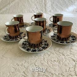 Vintage Rosenthal Demi Tassé Coffee Set Hilton 29 Pièces (pièces De Service Incl)